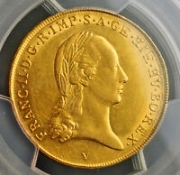Click now to see the BUY IT NOW Price! 1793 V AUSTRIAN NETHERLANDS FRANCIS II. GOLD SOUVERAIN D'OR COIN. PCGS AU 55