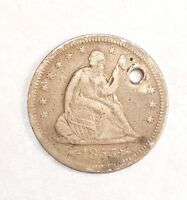BARGAIN 1855 O LIBERTY SEATED  QUARTER WITH ARROWS AT THE DATE FINE SILVER 25C