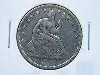 1856 O 50C LIBERTY SEATED HALF DOLLAR HIGH GRADE DETAIL NEW ORLEANS MINT CLEANED