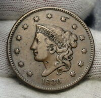 1836 PENNY CORONET LARGE CENT 1C   NICE COIN   6248