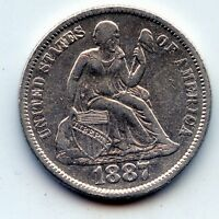 1887 P SEATED LIBERTY DIME     SEE PROMO