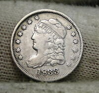 1833 CAPPED BUST HALF DIME 5C CENTS -  COIN, SHIPS FREE 6140