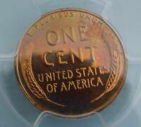 1952 PCGS PROOF 65 RED WHEAT CENT, GEM PR 65 RD PENNY, PINK COLOR TONE