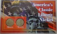 AMERICAN'S CLASSIC LIBERTY NICKEL SET OF 2 COINS E10