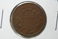 1867 TWO CENT VF