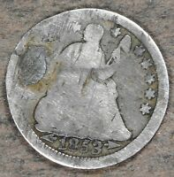 1853 SILVER SEATED LIBERTY HALF DIME  GOOD CONDITION HD159