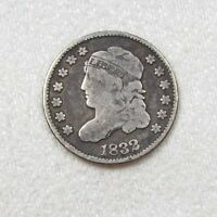 1832 CAPPED BUST SILVER HALF DIME GOOD 5C