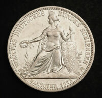 1872 HANNOVER GEORGE V. SILVER SHOOTING THALER COIN. LOW MIN