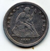 1861 SEATED LIBERTY QUARTER    SEE PROMO