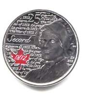 2013 LAURA SECORD RED MAPLE UNCIRCULATED CANADIAN 25 CENT COIN   CANADA QUARTER