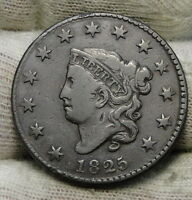 1825 PENNY CORONET LARGE CENT - N-8 R3,  COIN, SHIPS FREE  6119