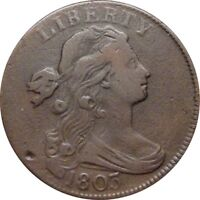 1803 DRAPED BUST CENT  VERY FINE   S 256 RARITY 3