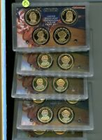 2008 S PRESIDENT DOLLAR 4 COIN PROOF SET LOT OF 5 NO BOXES 6233J