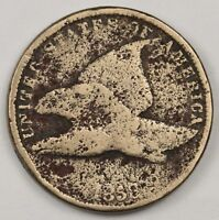 1858 FLYING EAGLE.  CIRCULATED.  117003