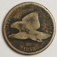 1858 FLYING EAGLE.  CIRCULATED.  117004