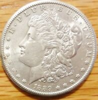 1889 S MORGAN SILVER DOLLAR   NICE ABOUT UNCIRCULATED    IN