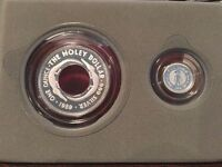 ELF AUSTRALIA 2PC PROOF SET 1989 SILVER  HOLEY DOLLAR AND TH