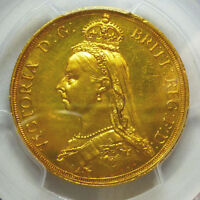 GREAT BRITAIN GOLD 2 POUNDS 1887 MS 62 PCGS