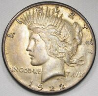 1922 P DDO PEACE DOLLAR DOUBLED TIARA NOT TOP 50 XF  DETAILS COIN AE767
