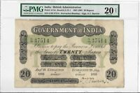 INDIA / BRITISH ADMINISTRATION   20 RUPEES 1893. PMG 20NET.