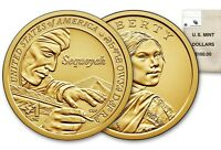 2017 P&D SACAGAWEA NATIVE AMERICAN $1.00 U.S. MINT SEQUOYAH FROM CHEROKEE NATION