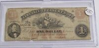 1862 VIRGINIA TREASURY ONE DOLLAR OBSOLETE NOTE