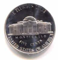 1976 S CAMEO PROOF JEFFERSON NICKEL   FIVE CENT COIN   SAN FRANCISCO MINT