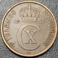 1926 ICELAND 5 AURAR COIN     FREE COMBINED S/H