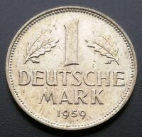 1959 D GERMANY 1 MARK COIN   VF  CONDITION   B14D422
