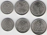 SAHARAWI ARAB 1992 3 COIN SET 1 2 5 PESETAS WEST SAHARA BEDUIN SPAIN CAMEL UNC