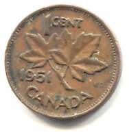1951 George Vi Small Cent Mintage Photos Specifications Errors Varieties Grading And Much More