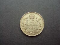 CANADA 10 CENTS 1936 SILVER XF / AU COIN  5238