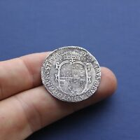 HAMMERED SILVER COIN PHILIP & MARY SHILLING UNDATED C 1554 A