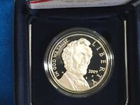 2009 ABRAHAM LINCOLN SILVER PROOF DOLLAR COIN W/COA   MINT