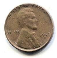 U.S. 1948 D LINCOLN WHEAT CENT - AMERICAN ONE CENT COIN - DENVER MINT