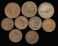 10 COIN LOT PRE CONFED TOKENS .. INCL. ICCS BR876 .. USEFUL