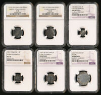 SIX BRITISH HAMMERED SILVERS ALL NGC CERTIFIED  1279AD 1604A