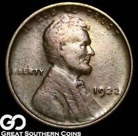 1922 NO D LINCOLN CENT WHEAT PENNY STRONG REV. SCARCE CHOICE