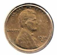 1934 D LINCOLN WHEAT PENNY   AMERICAN ONE CENT COIN   DENVER MINT