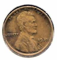 U.S. 1918 FINE LINCOLN WHEAT PENNY   AMERICAN ONE CENT COIN   PHILADELPHIA MINT