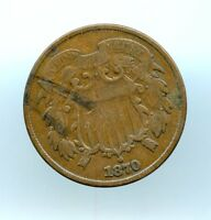 1870  2C TWO CENT PIECE  F
