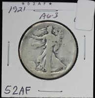 1921 WALKING LIBERTY HALF DOLLAR PHILADELPHIA