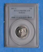 2002-S INDIANA STATE QUARTER PCGS PR69DCAM      FREE US SHIPPING