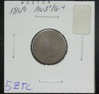 1869 INDIAN CENT AG