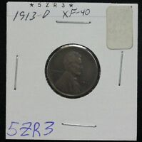 1913-D WHEAT CENT EXTRA FINE