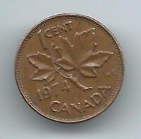 HCW 1974 CANADIAN 1 CENT PENNY COIN CANADA - UNCIRCULATED NOW 8010