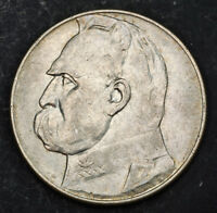 1935 POLAND  2ND REPUBLIC . LARGE SILVER 10 ZLOTYCH