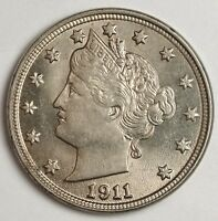 1911 LIBERTY NICKEL.  NATURAL B.U.  121243