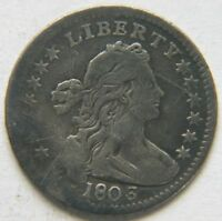 1803 H10C DRAPED BUST HALF DIME  KEY DATE TYPE COIN  DETAIL SCRATCHES