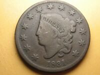1831 LARGE CENT  CORONET HEAD  SHIPS FREE